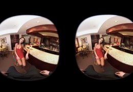 VR AA Blowjob in the Bar